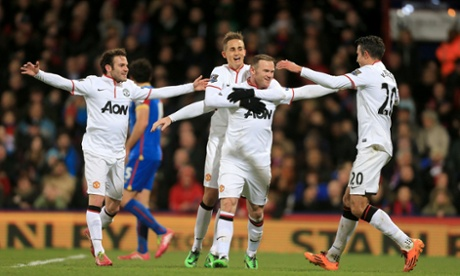 Man of the moment Wayne Rooney celebrates his stunning goal.