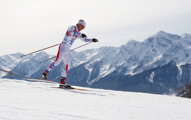 France's Ivan Perrillat Boiteux competes during the men's 50km cross-country race.