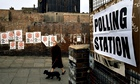 Polling station, London, 1974