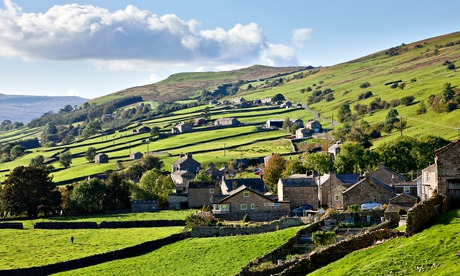Yorkshire Dales, Swaledale - The village of Gunnerside, England UK