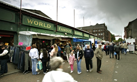 The Barras market in Glasgow's East End.