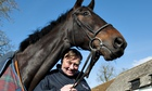 Nicky Henderson with Sprinter Sacre during an open day at his Seven Barrows stables in February 2013
