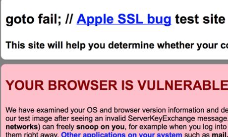 Vulnerabilidade da Apple SSL