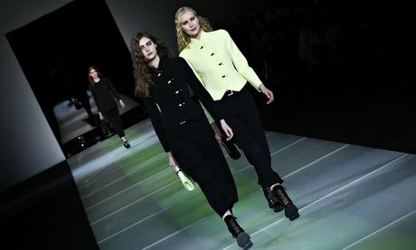 Giorgio Armani's Milan fashion week collection: spare and consistent
