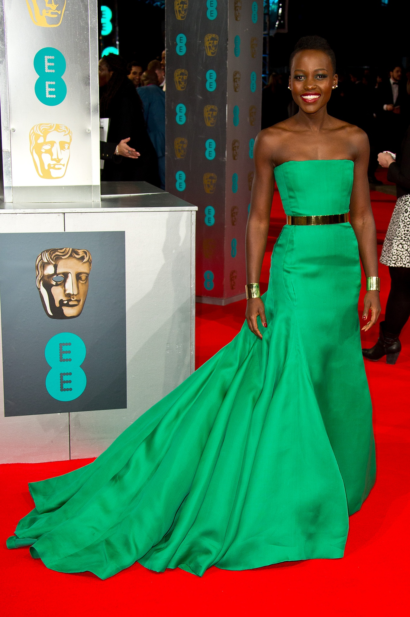 LONDON, ENGLAND - FEBRUARY 16:  Lupita Nyong'o attends the EE British Academy Film Awards 2014 at The Royal Opera House on February 16, 2014 in London, England.  (Photo by Mike Marsland/WireImage) Award|BAFTA|BAFTA Awards|Celebrities|Film|Lupita Nyong'o lupita14