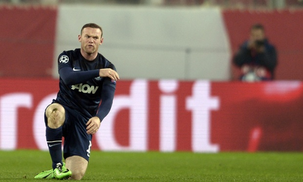 Wayne Rooney reacts as a decision goes against him.