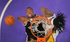 Brooklyn Nets center Jason Collins fights for a rebound with Los Angeles Lakers' Jordan Hill, who the Nets attempted to trade for before signing Collins, the first openly gay NBA player, on Sunday.