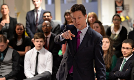 Clegg holds Q&A with school children