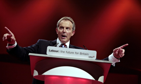 Tony Blair giving a speech at the Labour party conference 2006