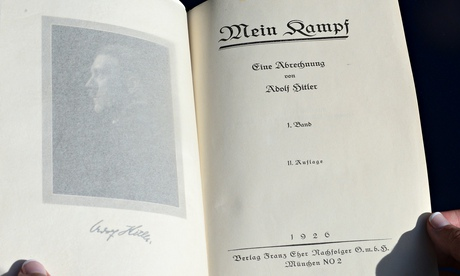 One of two rare copies of Mein Kampf signed by Adolf Hitler