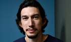 Portrait of Adam Driver in blue T-shirt