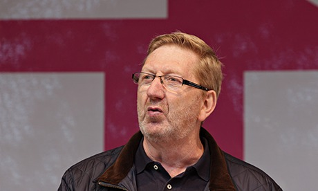 Len McCluskey speaking to a crowd