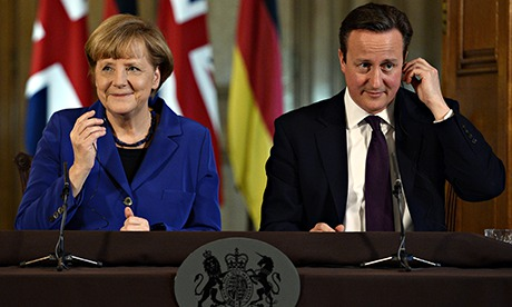 Cameron and Merkel press conference in Downing street