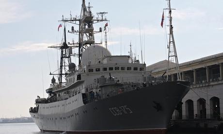A Russian spy ship Viktor Leonov SSV-175