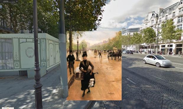 Paris - La_Modiste_Sur_Les_Champs_Elysees 1889 Jean_Béraud