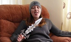 Joanna Dennehy posing with a knife shortly after some of the murders.