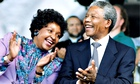 Winnie Madikizela-Mandela and Nelson Mandela in 1990, four months after emerging from 27 years jail