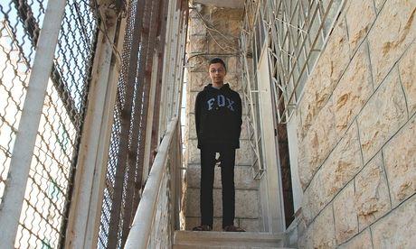 Waleed Abu Aishe, 13, at home in Hebron