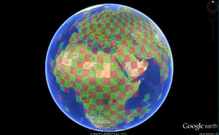 Google Earth temperature layer