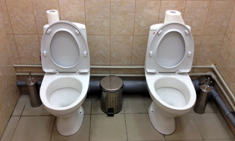 The curious case of the Sochi double toilets Visitors to the Winter Olympic facilities in Sochi, Russia, have encountered twin toilet cubicles, many for the first time. Just don't use them for fishing