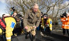 Prince Charles on the Somerset Levels