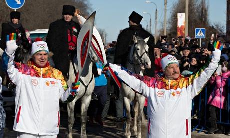 Olympic flame in Maykop