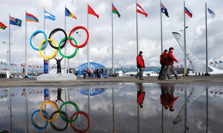 Olympics rings in Sochi