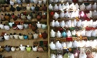 Indonesian Muslims perform Eid al-Fitr prayers.