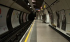 An empty London Underground platform