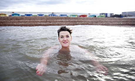 Nell Frizzell winter swimming