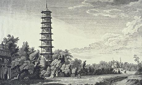 Royal Gardens at Kew, showing the Alhamb