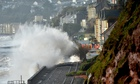 Devon's Dawlish railway hit by high seas