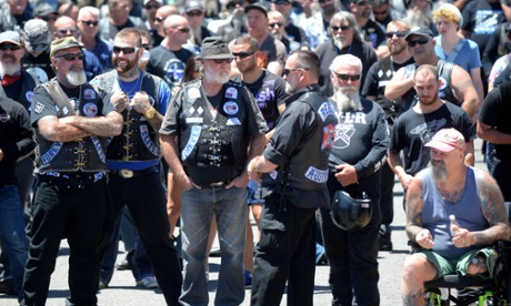 Hundreds of bike riders have come to Canberra to attend a rally against newly introduced anti bikie laws in Queensland.