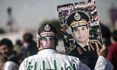 A supporter of Egypt's army chief Field