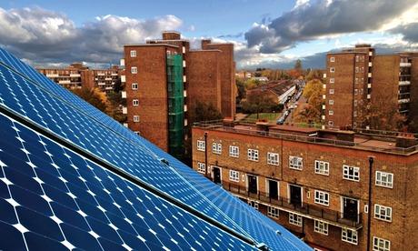 energia renovable Roof-top paneles solares Brixton