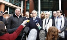 William Roache speaks to the media outside Preston crown court after his acquittal