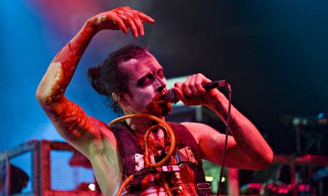 Nivek Ogre of Skinny Puppy, who are outraged at their music being used during Guantánamo torture. Photograph: Marc Broussely/Redferns