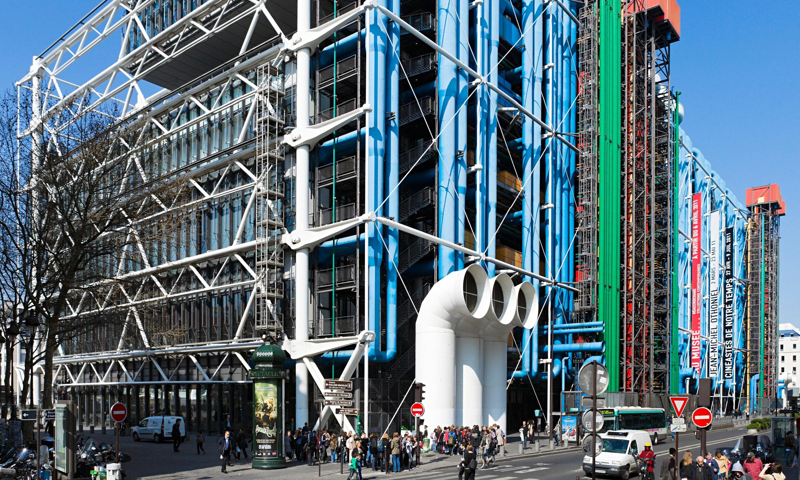 The brits who built the modern world art and design - Centre george pompidou architecture ...