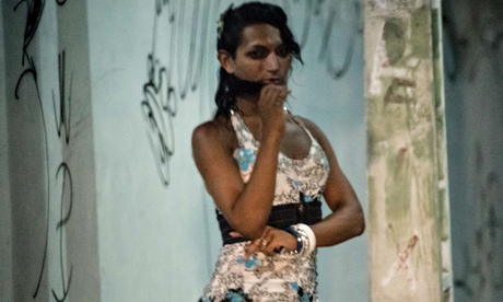 A prostitute on a street in Fortaleza, Brazil.