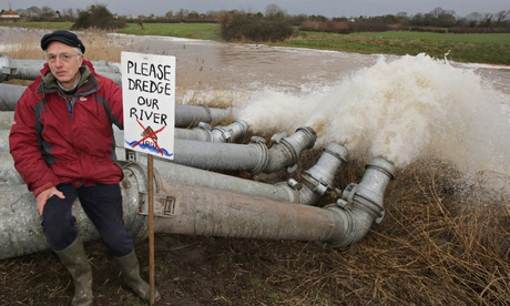 Flood defence protester in Somerset