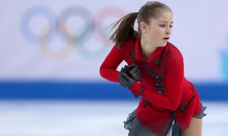 Yulia Lipnitskaya of Russia competes in the Team Ladies Free Skating at the Sochi 2014 Winter Olympics.