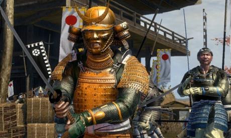A still from the video game Total War: Shogun 2.