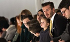 David Beckham Victoria Beckham fashion show