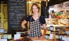Karah Horgarth, who runs Pickle in the Middle in Adelaide Central Market. The stall sells pickles and toasties.