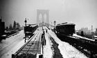 Trains on Brooklyn Bridge