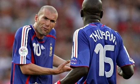 Zinedine Zidane and Lilian Thuram at the 2006 World Cup