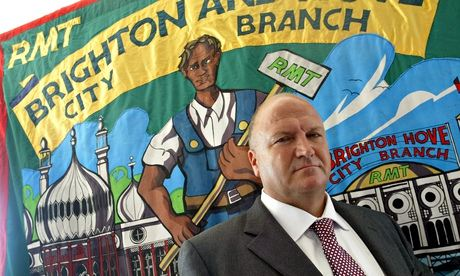 Bob Crow in Brighton, East Sussex, 2007