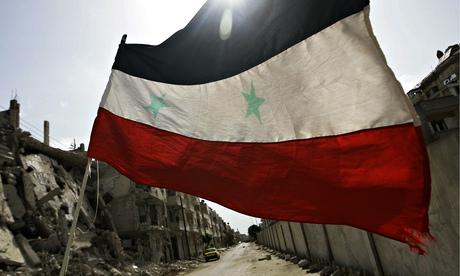 A bandeira síria