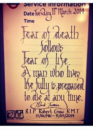 Tube tribute to Bob Crow