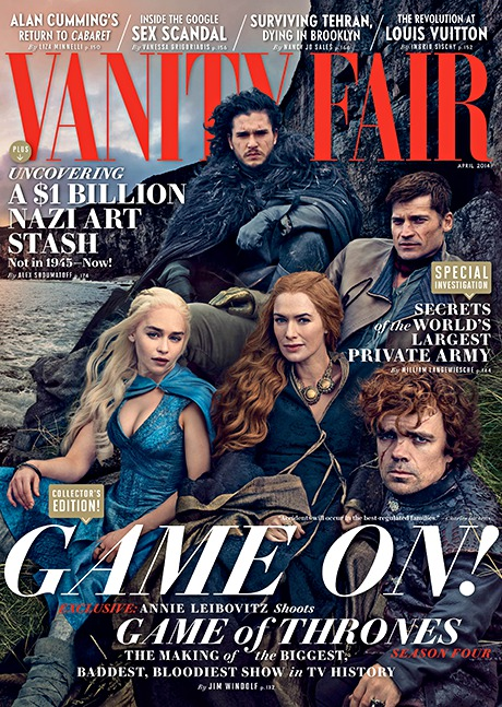 Game of Thrones Vanity Fair April 2014 cover